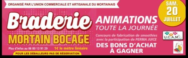 Braderie Mortain Bocage le samedi 20 Juillet 2019. Animations toute la journée !!! Découvrez les photos et la vidéo ici !!!