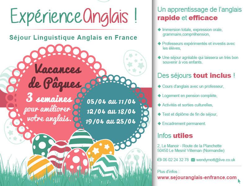 Expérience Anglais. Séjour linguistique éducatif en Normandie !!! Découvrez nos offres de séjours Ici !!! Réservez pour les vacances de Pâques Ici !
