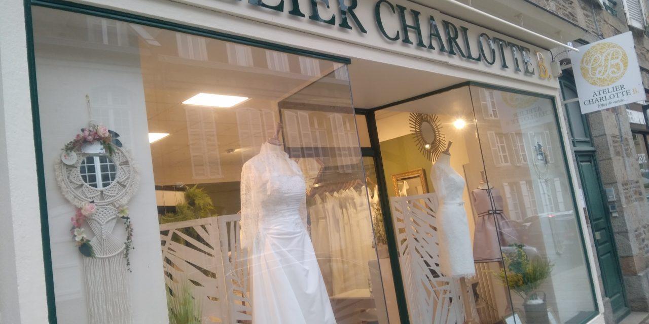 Atelier Charlotte B. c'est l'unique boutique de robes de mariée à Fougères (llle-et-Vilaine). Découvrez la carte cadeaux et nos dernières Nouveautés Ici !!! Fermé à bientôt, je suis joignable Ici !