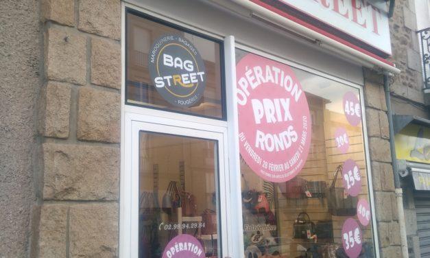 Découvrez BAG STREET votre maroquinerie à Fougères (bagages, sacs, porte feuille, porte monnaie et idées cadeaux). Les Prix Ronds !!!