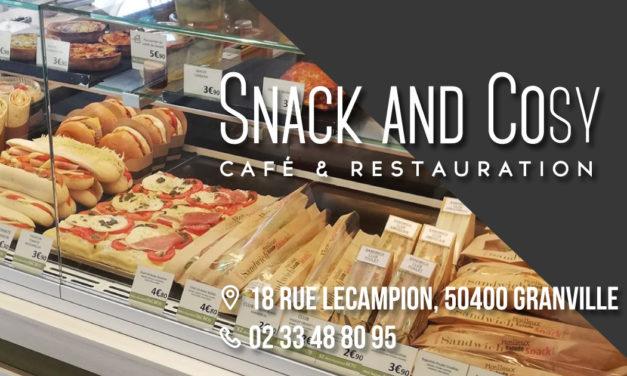 Découvrez Snack And Cosy à Granville ! Café et Restauration (Snacking, restaurant, sandwicherie et bar). Point vente des produits de la Mère Poulard. Vente à emporter !