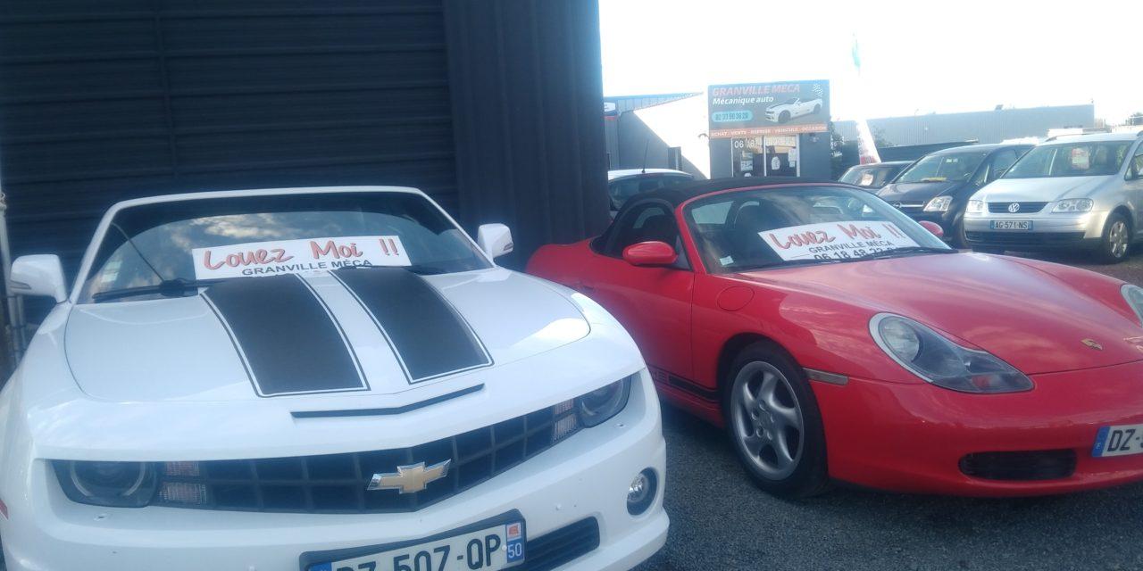 Location d'une Camaro ou d'une Porsche pour toutes vos occasions chez Granville MECA !