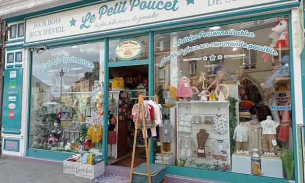 Le Petit Poucet, votre boutique de jouets, jeux de société, vêtements bébé et puériculture à Carentan les Marais.