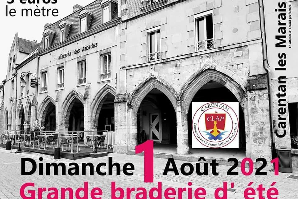 Grande Braderie le dimanche 01 Août 2021 à Carentan les Marais. Découvrez les photos et la vidéo ici !